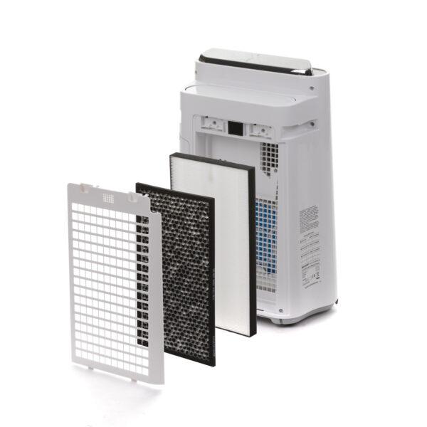doorsnede filters Sharp KCD40EUW Luchtbevochtiger Luchtreiniger